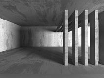 Abstract geometric concrete architecture background Stock Photos