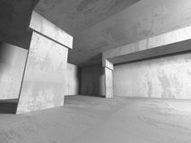 Abstract geometric concrete architecture background. 3d render illustration vector illustration
