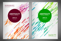 Abstract geometric cover flyer Royalty Free Stock Photos