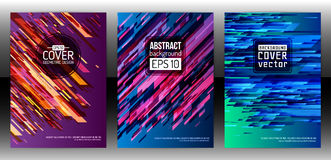 Abstract geometric cover flyer Stock Photography