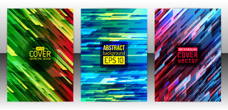 Abstract geometric cover flyer Stock Photo