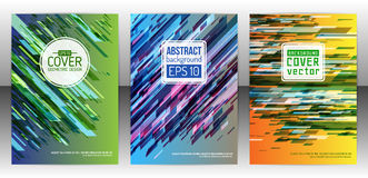 Abstract geometric cover flyer Stock Images