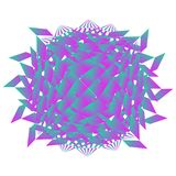 Abstract geometric creature vector illustration