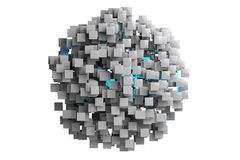 Abstract geometric cubes background  3d render Royalty Free Stock Photo