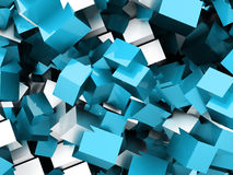 Abstract geometric cubes background rendered Royalty Free Stock Photography