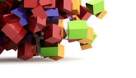 Abstract geometric cubes background rendered Royalty Free Stock Images