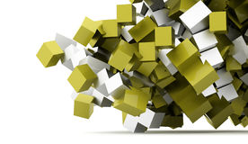 Abstract geometric cubes background rendered Stock Photos