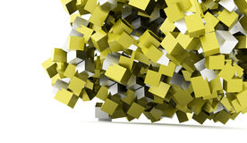 Abstract geometric cubes background rendered Stock Photography