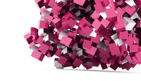 Abstract geometric cubes background rendered Royalty Free Stock Photos