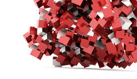 Abstract geometric cubes background rendered Stock Images