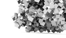 Abstract geometric cubes background rendered Stock Photo