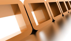 Abstract geometric cubes concept rendered Stock Images
