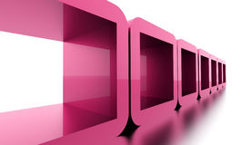 Abstract geometric cubes concept rendered. Pink abstract geometric cubes concept rendered Royalty Free Stock Photo