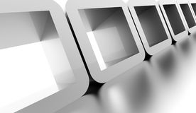 Abstract geometric cubes concept rendered. Silver abstract geometric cubes concept rendered Royalty Free Stock Image
