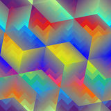 Abstract geometric cubes pattern Stock Images