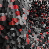 Abstract geometric 3d hole with crystals for background. Accent color for hue Royalty Free Stock Photography