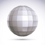 Abstract geometric 3D object, modern digital technology and scie Royalty Free Stock Image
