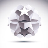 Abstract geometric 3D object, modern technology Royalty Free Stock Images