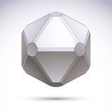 Abstract geometric 3D object. Stock Images