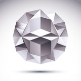 Abstract geometric 3D object, vector illustration, clear eps 8.  Stock Photography