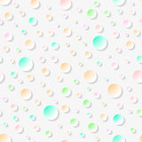 Abstract geometric 3D seamless pattern. Abstract geometric seamless pattern with 3D colorful circles and long shadow.Vector illustration Royalty Free Stock Photography