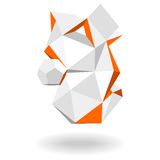 Abstract, geometric 3d shape vector illustration. Abstract geometric 3d shape vector illustration Royalty Free Stock Images