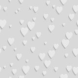 Abstract Geometric 3d White Seamless Pattern. Abstract Geometric 3d White Hearts Seamless Pattern, Vector Background Royalty Free Stock Photos