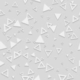 Abstract Geometric 3d White Seamless Pattern Stock Photography