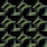 Regular futuristic  squares pattern green gray black diagonally. Abstract geometric dark background in squares dimensionally. Regular futuristic  pattern green Stock Images