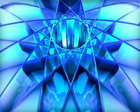 Abstract geometric design. A beautiful blue abstract geometric  design Stock Image