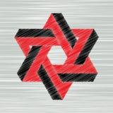 Abstract geometric  design. Geometric abstract shape design, grunge illustration Stock Photography