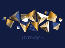 Abstract geometric design element for card, Royalty Free Stock Photo