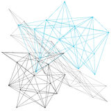 Abstract geometric designs Royalty Free Stock Photos