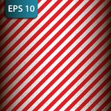 Abstract geometric diagonal striped pattern with red and white stripes. Vector illustration Royalty Free Stock Photo