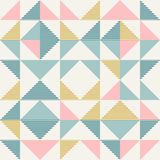 Abstract geometry in retro colors, diamond shapes geo pattern stock image