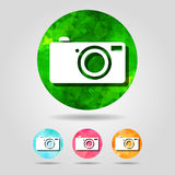 Abstract geometric digital camera icons collection for graphic d Royalty Free Stock Photo