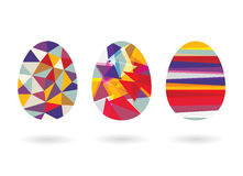Abstract Geometric Easter Egg Stock Photo