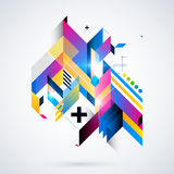 Abstract geometric element. Royalty Free Stock Images