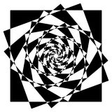 Abstract geometric element with inward rotating squares. Overlap Stock Photos