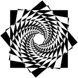 Abstract geometric element with inward rotating squares. Overlap Royalty Free Stock Images