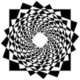Abstract geometric element with inward rotating squares. Overlap Stock Images