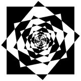Abstract geometric element with inward rotating squares. Overlap Royalty Free Stock Image