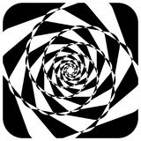 Abstract geometric element with inward rotating squares. Overlap Stock Image