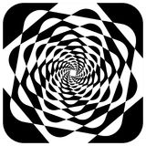 Abstract geometric element with inward rotating squares. Overlap Royalty Free Stock Photos
