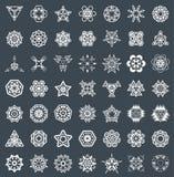 Abstract Geometric Elements, Pattern Ethnic Aztec or Maya Vector. Set royalty free illustration