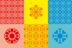 Abstract geometric elements. Red color, orange color and bluer color. Vector illustration EPS 10 royalty free illustration