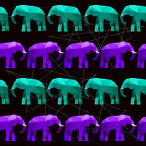 Abstract geometric elephant seamless pattern background Royalty Free Stock Photography