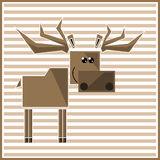 Abstract geometric elk Royalty Free Stock Photo
