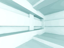 Abstract Geometric Empty Interior Architecture Background. 3d Render Illustration Royalty Free Stock Photo