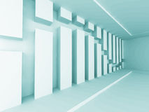 Abstract Geometric Empty Interior Design Background. 3d Render Illustration stock illustration